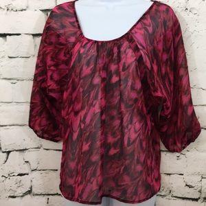 NWT Express sheer blouse